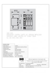 Protetor contra surto EL-DA-055-DDA 055